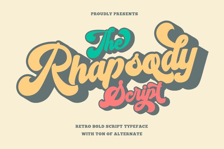 Rhapsody - Retro Bold Script example image 1