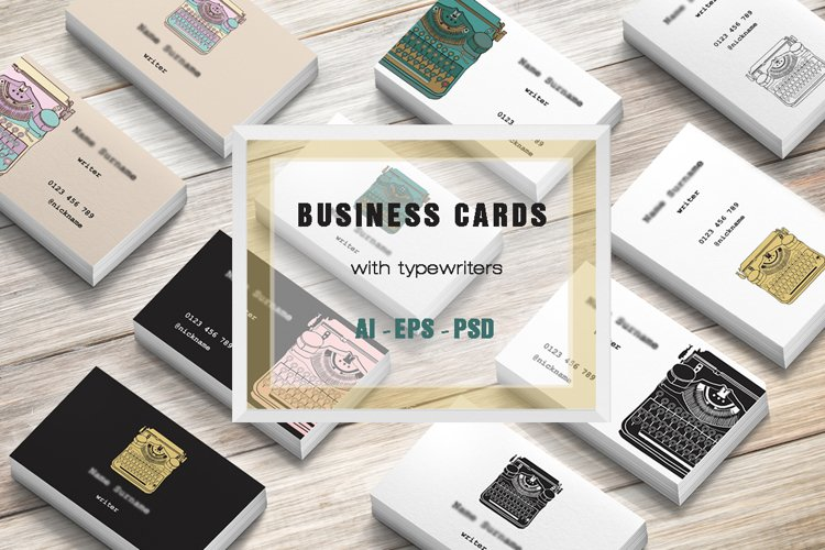 Business Cards with typewriters example image 1