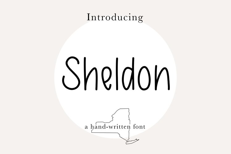 Sheldon Font |Skinny, Handwritten, Farmhouse, Print Font