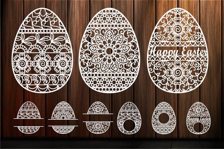 Easter Egg svg Ornate Eggs Happy Easter Mandala Zentangle example image 1