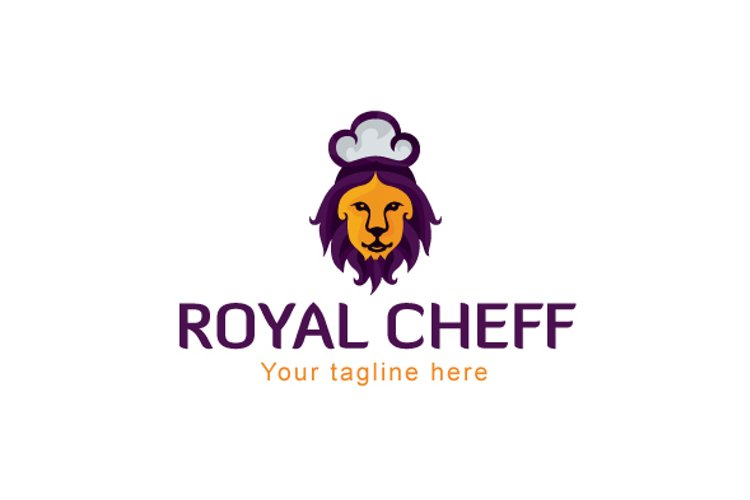 Royal Chef - Lion Animal Stock Logo Design for Restauran example image 1