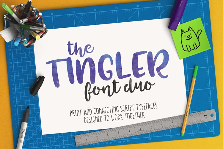 The Tingler font duo - print and script fonts that work together