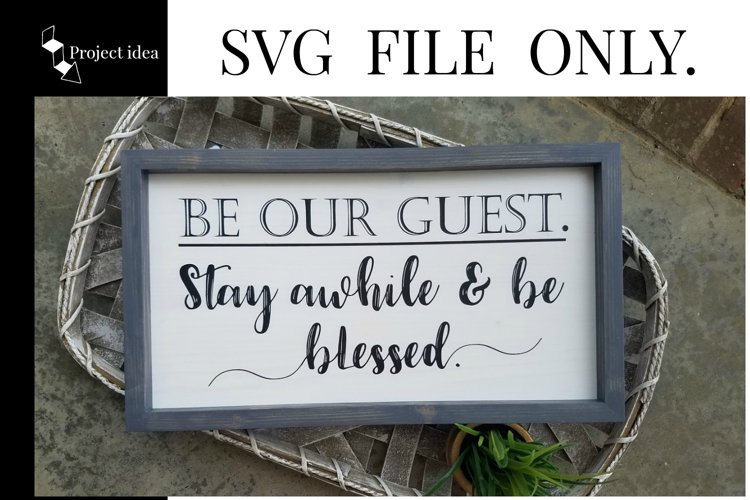 Be Our Guest, SVG FILE example image 1