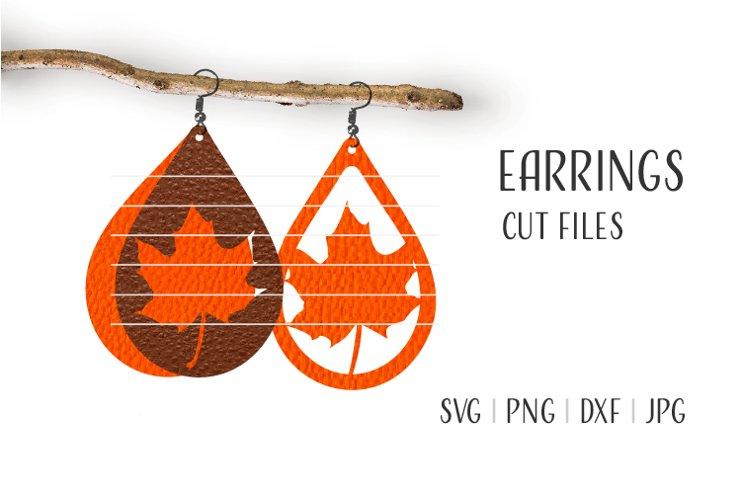 Mapple Leaf Earrings Svg / Leather / Faux / Wood / Laser