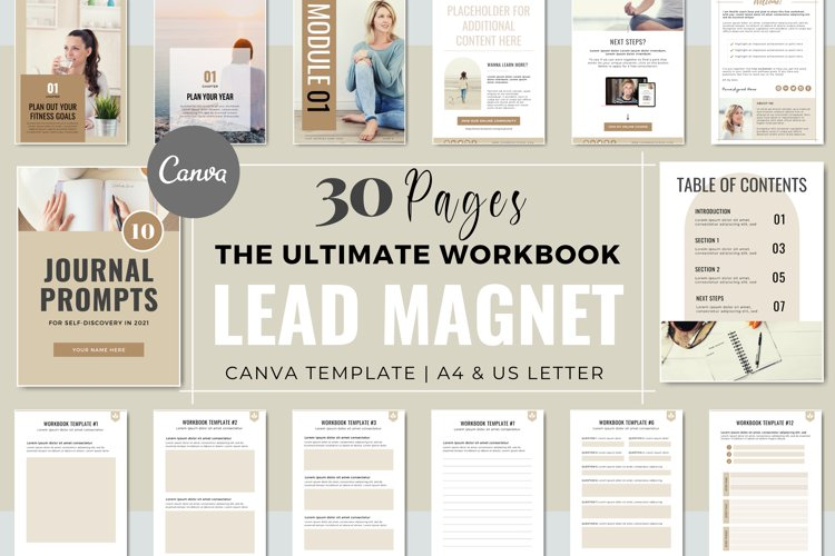 Workbook Lead Magnet Template for Coaches | Canva Templates