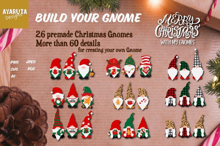 Christmas Gnome SVG, Build your Gnome, Christmas Bundle SVG example image 1