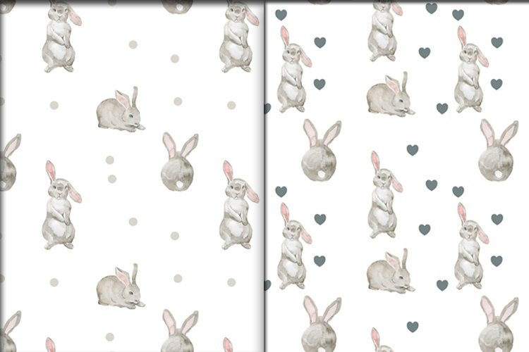 Rabbits-a pattern on a transparent background