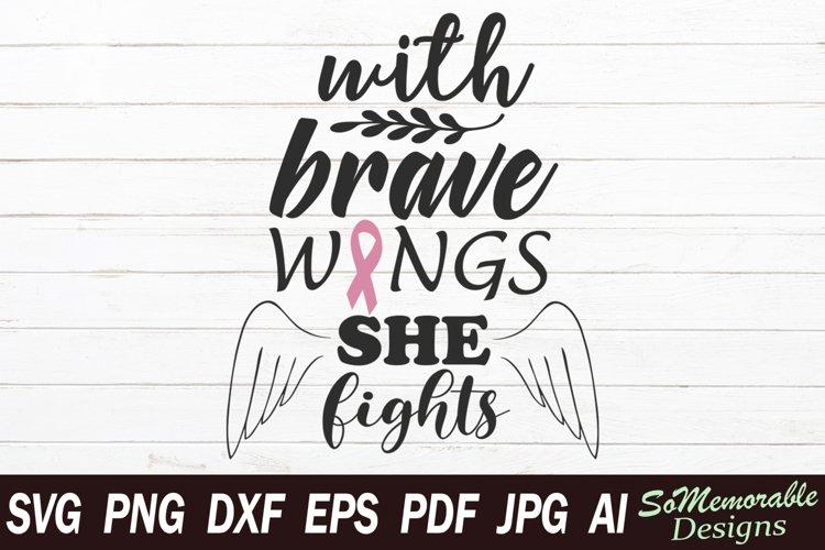 Breast cancer SVG cut file, Cancer ribbon svg design example image 1