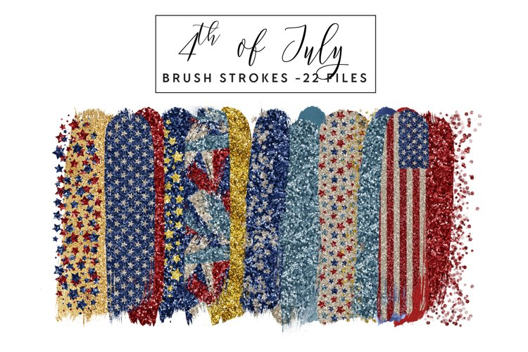 4th of July Brush Strokes Clip Art example image 1