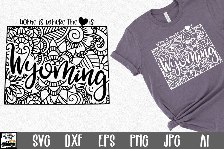 Wyoming Mandala SVG Bundle - Home is Where the Heart Is SVG example image 1