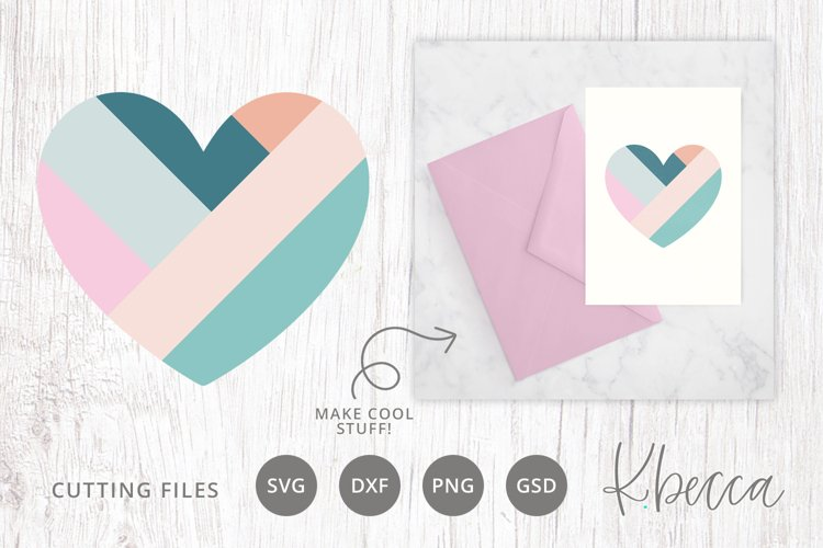 Striped Heart SVG Cut File for Card Making & Paper Crafts