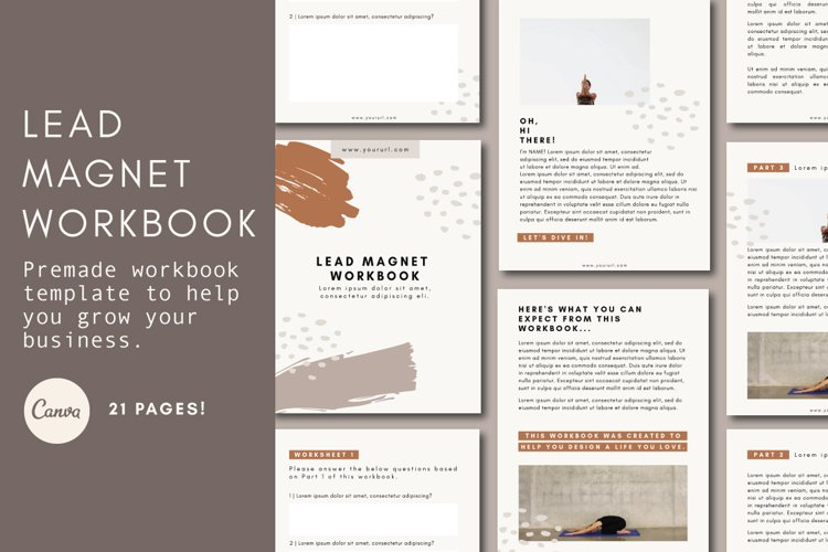 Lead Magnet Template | Lead Magnet Workbook | Opt In Freebie example image 1