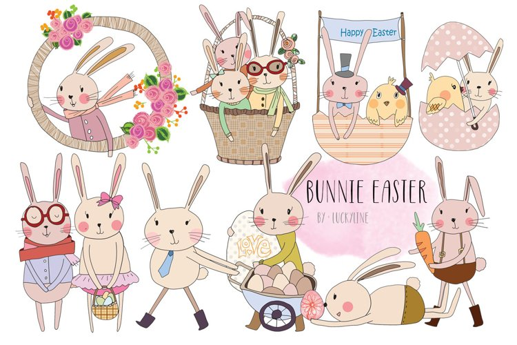 bunnie Easter clip art example image 1