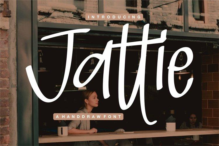 Web Font Jattie - A Handdrawn Font example image 1
