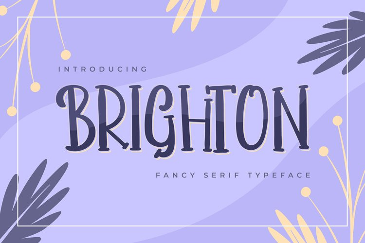 Brighton | Fancy Serif Typeface example image 1