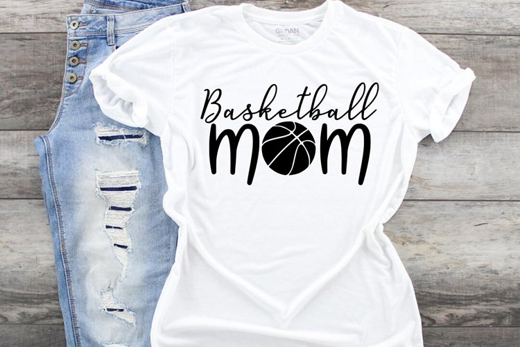 Basketball mom fan svg cut file, mother Sports parent example image 1