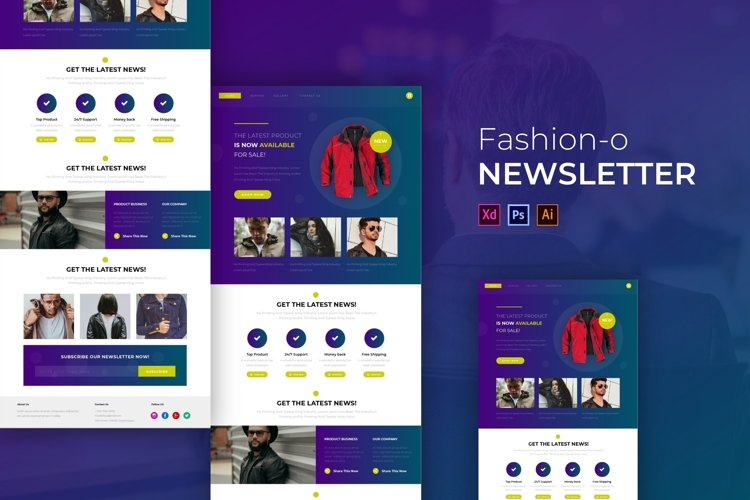 Jacket-O Fashion | Email Newsletter Template example image 1