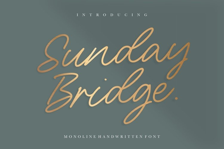 Sunday Bridge Monoline Handwritten Font example image 1