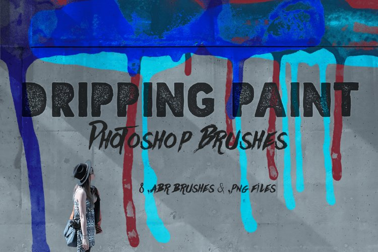 Dripping Paint Photoshop Brushes example image 1