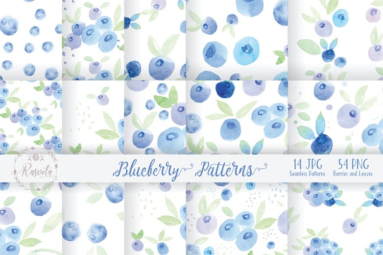 Watercolor Painting Blueberry example image 1