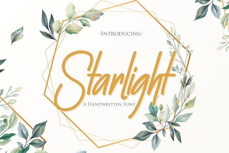 Starlight | A Handwritten Font example image 1