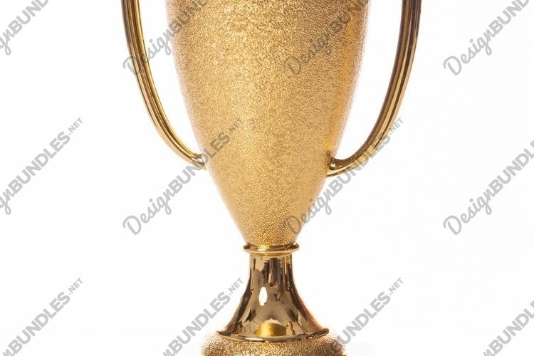 Gold winner cup trophy isolated on white background example image 1