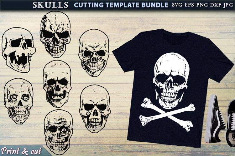Skull set Cutting SVG Template Bundle