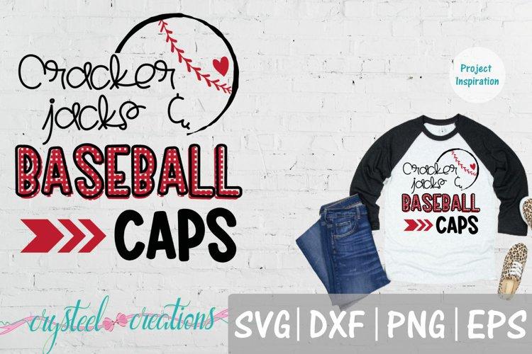 Cracker Jacks & Baseball Caps SVG, DXF, PNG, EPS example image 1