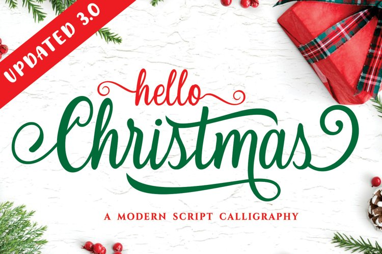 Hello Christmas - Modern Calligraphy example image 1