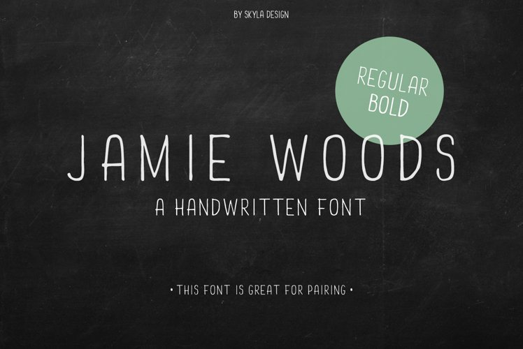 Skinny, Condensed font Jamie Woods example image 1