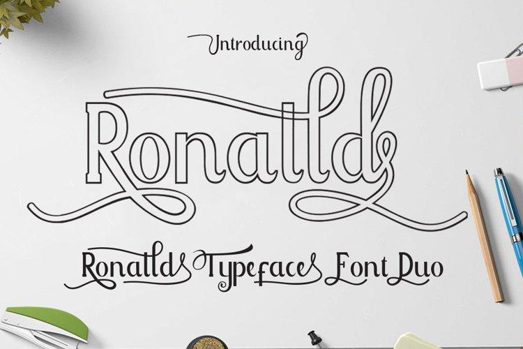 Ronalld Font Duo example image 1