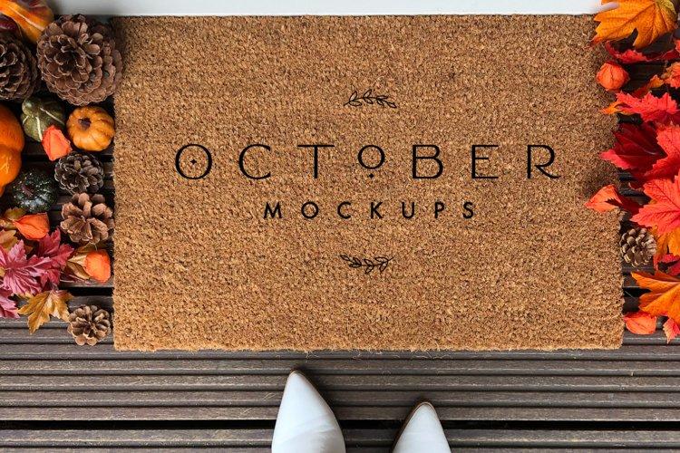 Fall Doormat mockup | Personalized doormat mockup JPG and PS example 1