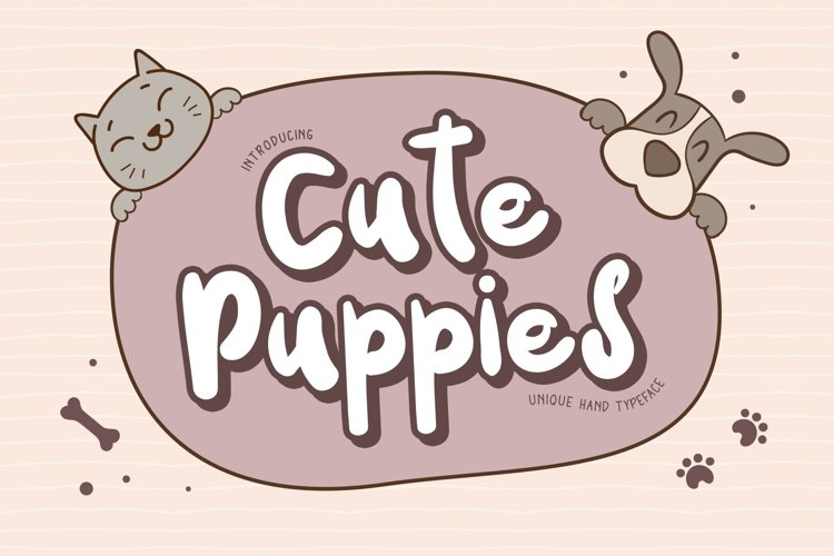 Web Font Cute Puppies example image 1