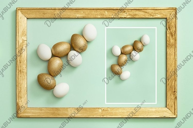 Easter eggs white and gold colored example image 1