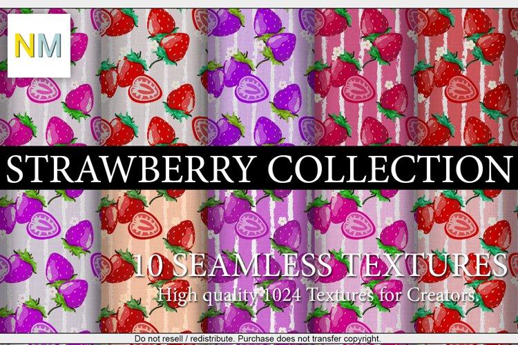 Strawberry Collection 10 Seamless Textures Harmonia NM example image 1
