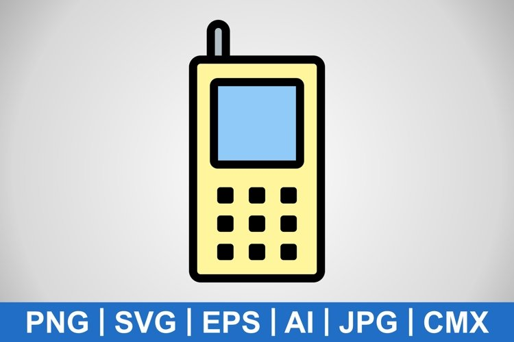 Vector Cell Phone Icon example image 1