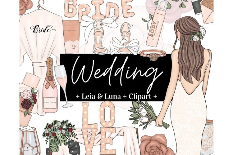 Wedding Rose Gold Beige Fashion Girl Clipart
