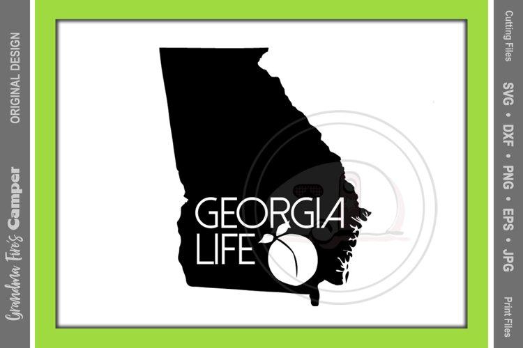 Georgia Life SVG, Georgia State Silhouette, Georgia Life example image 1