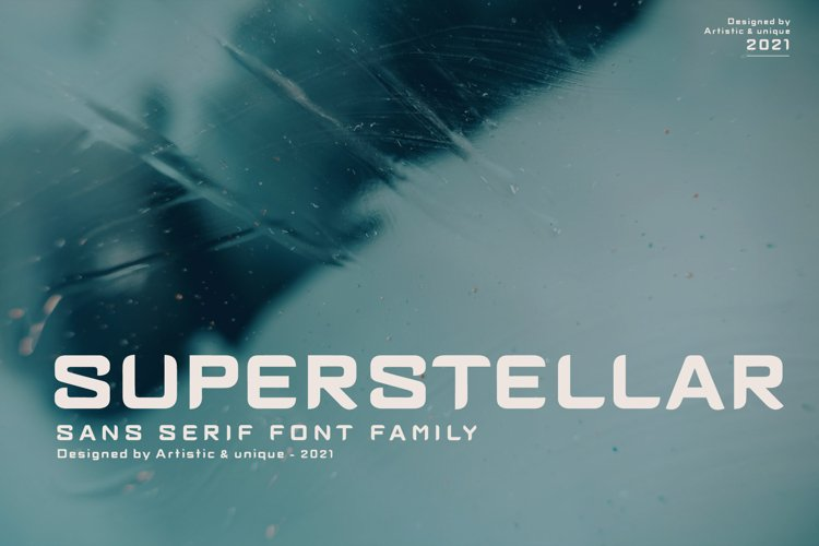 Superstellar - Sans serif font family example image 1