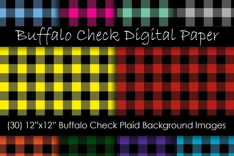 Buffalo Plaid Digital Paper - Buffalo Check Plaid Patterns example image 1
