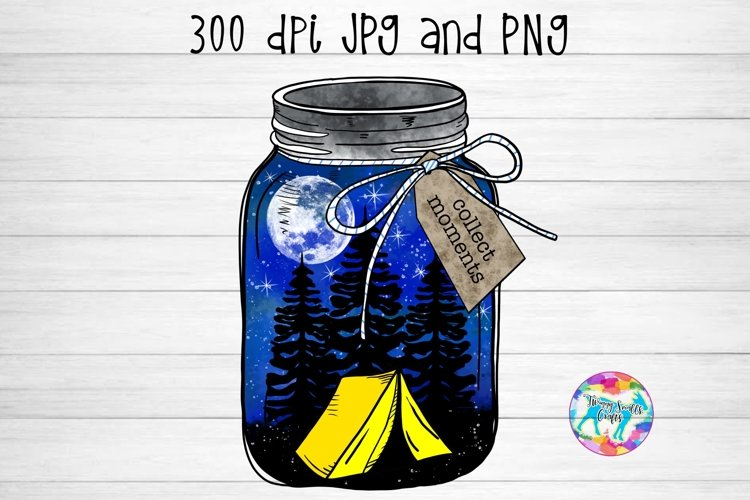 Collect Moments - Hand Illustrated Camping Design example image 1