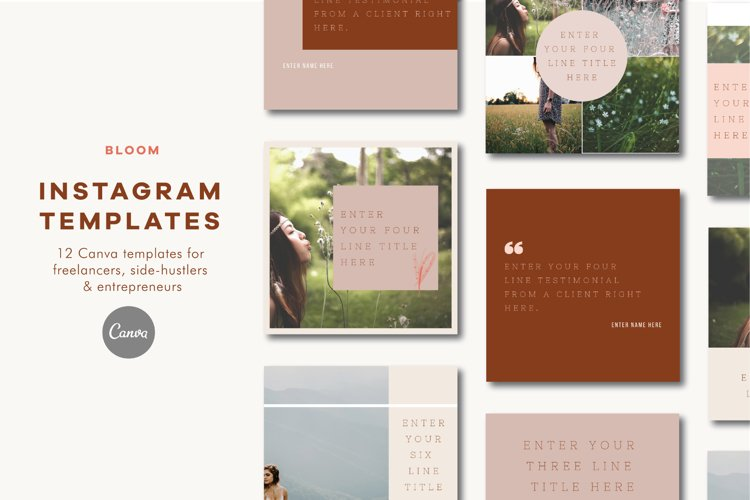 Instagram Templates | Canva | Bloom example image 1