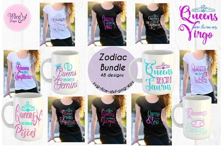 Queens are born as ... Zodiac bundle svg, all zodiac signs,