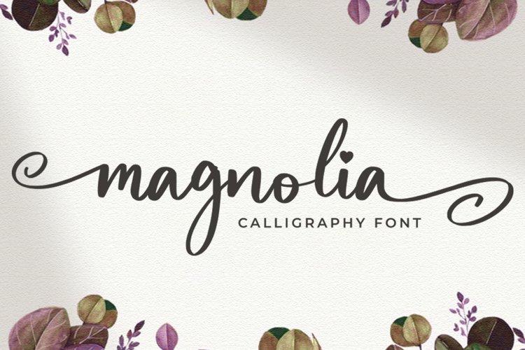 Magnolia Script Font example image 1
