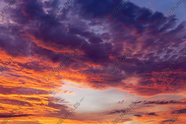 beautiful red bright clouds example image 1