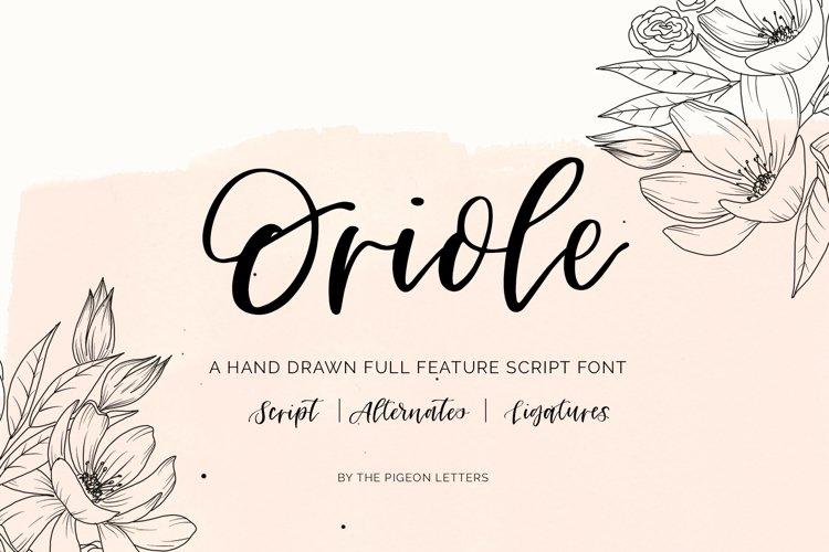 Oriole Script Font