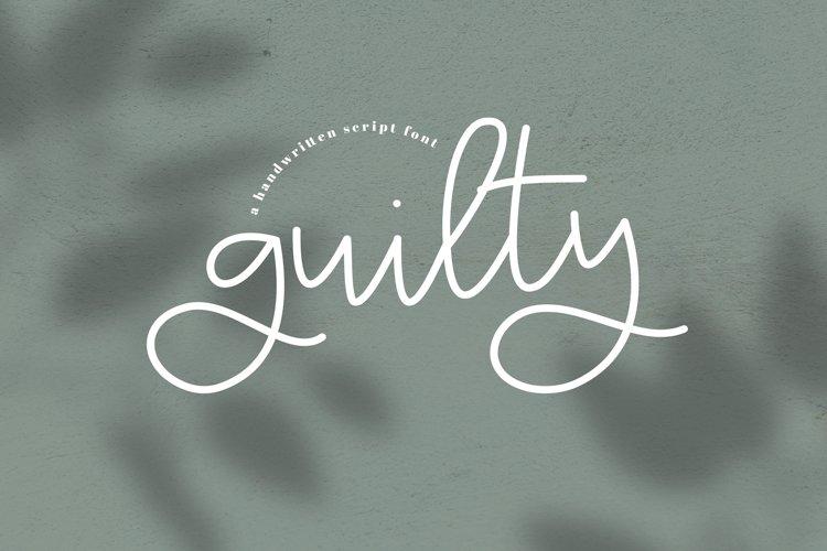 Guilty - A Handwritten Script Font example image 1
