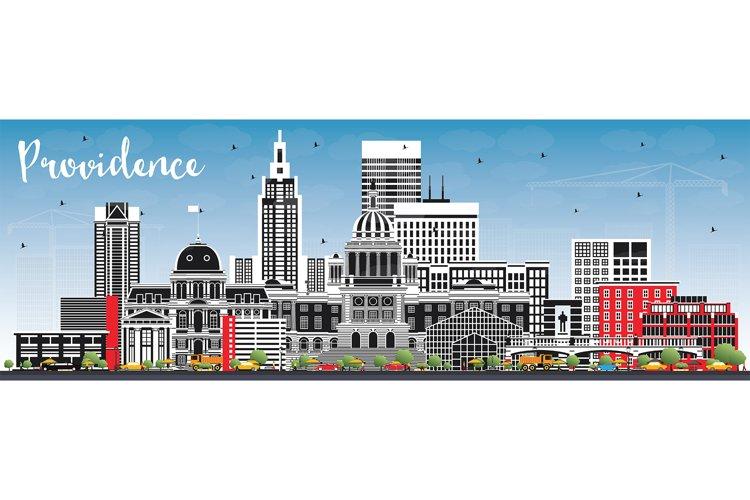 Providence Rhode Island City Skyline example image 1