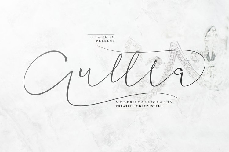 Aullia Modern Calligraphy example image 1