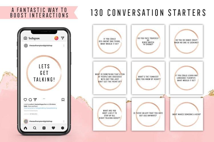 130 Social Media Conversation Starters Version 5 example image 1